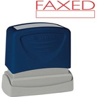 """Sparco FAXED Red Title Stamp - Message Stamp - """"FAXED"""" - 1.75"""" (44.45 mm) Impression Width x 0.62"""" (15.75 mm) Impression Length - Red - 1 / Each"""