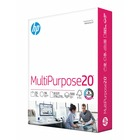 """HP Papers MultiPurpose20 8.5x11 Copy & Multipurpose Paper - Letter - 8 1/2"""" x 11"""" - 20 lb Basis Weight - Smooth - 500 / Ream - White"""