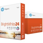 "HP Papers BrightWhite24 Inkjet Print Inkjet Paper - Letter - 8 1/2"" x 11"" - 24 lb Basis Weight - White"