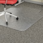 "Lorell Economy Low Pile Standard Lip Chairmat - Carpeted Floor - 48"" (1219.20 mm) Length x 36"" (914.40 mm) Width x 95 mil (2.41 mm) Thickness - Lip Size 10"" (254 mm) Length x 19"" (482.60 mm) Width - Rectangle - Vinyl - Clear"
