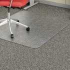 "Lorell Rectangular Low-pile Economy Chairmat - Carpeted Floor - 60"" (1524 mm) Length x 46"" (1168.40 mm) Width x 95 mil (2.41 mm) Thickness - Rectangle - Vinyl - Clear"