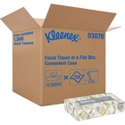 "Kleenex Facial Tissue - 2 Ply - 8.4"" x 8.4"" - White - Soft, Absorbent - For Healthcare - 125 Quantity Per Box - 1500 / Carton"