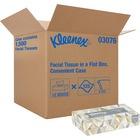 "Kleenex Facial Tissue - 2 Ply - 8.4"" x 8.4"" - White - Soft, Absorbent - For Healthcare - 125 Quantity Per Box - 12 / Carton"