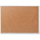 "Quartet Classic Series Bulletin Board - 24"" (609.60 mm) Height x 36"" (914.40 mm) Width - Brown Natural Cork Surface - Heavy-gauge, Self-healing, Heavy Duty - Silver Aluminum Frame - 1 Each"