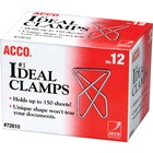 Acco Ideal Paper Clamps - Large - No. 1 - 150 Sheet Capacity - 12 / Box - Silver - Metal