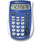"""Texas Instruments TI503 SuperView Pocket Calculator - 8 Digits - LCD - Battery Powered - 0.7"""" x 3.1"""" x 4.8"""" - Blue, Gray - 1 / Each"""