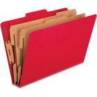 "Pendaflex Kraft Divider PressBoard Classification Folders - 2"" Folder Capacity - Legal - 8 1/2"" x 14"" Sheet Size - 2"" Expansion - 6 Fastener(s) - 2"" Fastener Capacity, 1"" Fastener Capacity - 2/5 Tab Cut - 2 Divider(s) - 20 pt. Folder Thickness - Paperboar"
