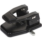 "Master Heavy-Duty 2-Hole Padded Punch - 2 Punch Head(s) - 40 Sheet Capacity - 9/32"" Punch Size - Round Shape - 13.75"" (349.25 mm) x 12.50"" (317.50 mm) x 9.50"" (241.30 mm) - Black"