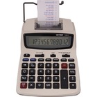 "Victor 12082 Printing Calculator - 2.3 - Extra Large Display, Clock, Date, Sign Change, Environmentally Friendly, Independent Memory, 4-Key Memory - AC Supply/Power Adapter Powered - 1.5"" x 6"" x 7.5"" - White - 1 Each"