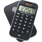 "Victor 900 Handheld Calculator - Protective Hard Shell Cover, Big Display, Independent Memory, Dual Power - 0.55"" (14 mm) - 8 Digits - LCD - Battery/Solar Powered - 0.3"" x 2.5"" x 4.3"" - Black - Rubber - 1 Each"