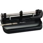 "Swingline Lever Handle Heavy-Duty Punch - 7 Punch Head(s) - 32 Sheet Capacity - 9/32"", 11/32"", 13/32"" Punch Size - Black"