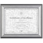 """DAX Silver Frame Certificate Display - 11"""" x 8.50"""" Frame Size - Holds 11"""" x 8.50"""" Insert - Desktop, Wall Mountable - Horizontal, Vertical - Easel Back - 1 Each - Wood - Silver, Charcoal, Nickel"""