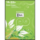 """DAX U-Channel Wall Poster Frames - Holds 18"""" x 24"""" Insert - Wall Mountable - Vertical, Horizontal - 1 / Each - Plastic - Black"""