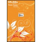 """DAX U-Channel Wall Poster Frames - Holds 24"""" x 36"""" Insert - Wall Mountable - Vertical, Horizontal - 1 / Each - Plastic - Black"""