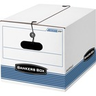 "Bankers Box STOR/FILE Storage Boxes - Internal Dimensions: 12"" (304.80 mm) Width x 15.50"" (393.70 mm) Depth x 10.25"" (260.35 mm) Height - External Dimensions: 12.3"" Width x 16"" Depth x 11"" Height - Media Size Supported: Letter, Legal - String/Button Tie C"