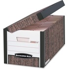 "Bankers Box Systematic File Storage Boxes - Internal Dimensions: 12.13"" (308.10 mm) Width x 15"" (381 mm) Depth x 10"" (254 mm) Height - External Dimensions: 13"" Width x 16"" Depth x 10.3"" Height - Media Size Supported: Letter, Legal - Flip Top Closure - Med"