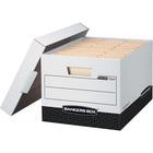 "Bankers Box R-Kive File Storage Box - Internal Dimensions: 12"" (304.80 mm) Width x 15"" (381 mm) Depth x 10"" (254 mm) Height - External Dimensions: 12.8"" Width x 16.5"" Depth x 10.4"" Height - Media Size Supported: Letter, Legal - Lift-off Closure - Heavy Du"