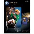 """HP Inkjet Photo Paper - Letter - 8 1/2"""" x 11"""" - 66 lb Basis Weight - Glossy - 50 / Pack - White"""