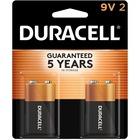 Duracell Coppertop Alkaline 9V Battery - MN1604 - For Multipurpose - 9V - 9 V DC - Alkaline - 2 / Pack