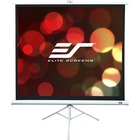 """Elite Screens Tripod T136NWS1 136"""" Projection Screen - Front Projection - 1:1 - MaxWhite - 96"""" x 96"""" - Floor Mount"""