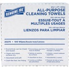 """Genuine Joe All-Purpose Cleaning Towels - 16.5"""" x 9.5"""" - White - Soft, Reusable, Absorbent, Non-abrasive - 100 Quantity Per Box - 100 / Box"""