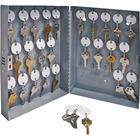 "Sparco All-Steel Hook Design Key Cabinet - 10"" x 3"" x 12"" - Security Lock - Gray - Steel"