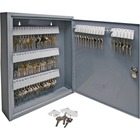 "Sparco All-Steel Slot-Style 80-Key Cabinet - 14"" x 3"" x 17.1"" - Security Lock - Gray - Steel - Recycled"