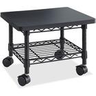 "Safco Under Desk Printer/Fax Stand - 136.08 kg Load Capacity - 13.50"" (342.90 mm) Height x 19"" (482.60 mm) Width x 16"" (406.40 mm) Depth - Floor - Laminate, Powder Coated - Steel - Black"