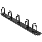 StarTech.com 1U 19in Metal Rackmount Cable Management Panel - Rack cable management kit - 1U - Organize and manage network server and KVM cabling in your server rack - Compatible with StarTech.com 4POSTRACKBK - Horizontal Cable Management Panel/1U Cable O