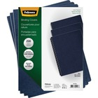 """Fellowes Expressions Oversize Linen Presentation Covers - 11.3"""" Height x 8.8"""" Width x 0.1"""" Depth - For Letter 8 1/2"""" x 11"""" Sheet - Navy - Linen - 200 / Pack"""