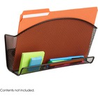 Safco Onyx Accessory Organizer Magnetic File Pocket - 1 Pocket(s) - Black - Steel - 1Each