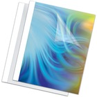 "Fellowes Thermal Presentation Covers - 1/4"" , 60 sheets, White - 11"" Height x 8.5"" Width x 0.3"" Depth - 0.3"" Thickness - 60 x Sheet Capacity - 9 3/4"" x 11 1/8"" Sheet - Rectangular - White - PVC Plastic - 10 / Pack"