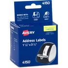 """Avery Thermal Label Printer 1 1/8x3 1/2"""" Mailing Label - 1 1/8"""" Width x 3 1/2"""" Length - 130/Roll - White"""