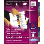 Avery® Easy Edit Index Divider - 8 Tab(s) - 1 Tab(s)/Set - Multicolor Tab(s) - 1 Set