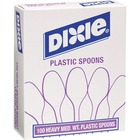 Dixie Medium Weight Plastic Cutlery - 100/Box - Plastic - White