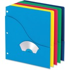 "Pendaflex 3-Hole Wave Pocket Project Folders - Letter - 8 1/2"" x 11"" Sheet Size - 11 pt. Folder Thickness - Pressboard - Blueberry, Ice, Lemon, Lime, Strawberry - Recycled - 10 / Pack"