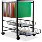 "Advantus Mobile File Cart - 4 Casters - Steel - x 16"" Width x 13"" Depth x 19.5"" Height - Black Steel Frame - Black - 1 / Each"