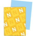 """Wausau Paper Exact Bristol Cover Stock - Letter - 8 1/2"""" x 11"""" - 67 lb Basis Weight - Vellum - 250 / Pack - Blue"""