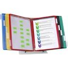 """Tarifold Color-coded 20-Pocket Desktop Starter Set - Desktop, Countertop - 20 Panels - Support Letter 8.50"""" (215.90 mm) x 11"""" (279.40 mm) Media - Pivot, Expandable, Wire-reinforced - Assorted Pocket - Metal Stand, Polyvinyl Chloride (PVC) Pocket - 11"""" (27"""