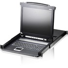 "Aten 17"" CL1008M 8-port LCD KVM for SMB - 8 Computer(s) - 17"" Active Matrix TFT LCD - 8 x HD-15 Keyboard/Mouse/Video, 1 x Flash-upgrade - 1U Height"