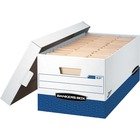 "Bankers Box Presto File Storage Box - Internal Dimensions: 12"" (304.80 mm) Width x 24"" (609.60 mm) Depth x 10"" (254 mm) Height - External Dimensions: 13"" Width x 25.4"" Depth x 10.5"" Height - 750 lb - Media Size Supported: Letter - Lift-off Closure - Heavy"