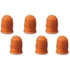Acme United Heavy-Duty Non-Ventilated Fingertip Pad - Small Size - Rubber - 12 / Pack