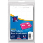 "Avery® Multipurpose Label - Removable Adhesive - 1/2"" Width x 3/4"" Length - Rectangle - Inkjet, Laser - White - 1008 / Pack"