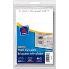 "Avery® Multipurpose Label - Removable Adhesive - 1/2"" Width x 1 3/4"" Length - Rectangle - Inkjet, Laser - White - 640 / Pack"