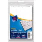 "Avery® Rectangular Label - Removable Adhesive - 3/4"" Width x 1"" Length - Rectangle - Inkjet, Laser - White - 775 / Pack"
