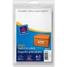 "Avery® Rectangular Label - Removable Adhesive - 1"" Width x 3"" Length - Rectangle - Inkjet, Laser - White - 225 / Pack"