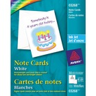 "Avery® Inkjet Print Note Card - 4 1/4"" x 5 1/2"" - Matte - 30 / Pack - White"