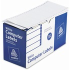 "Avery® Continuous Form Computer Labels, Permanent Adhesive, 4"" x 1-15/16"" , 5,000 Labels - Permanent Adhesive - 4"" Width x 1 15/16"" Length - Rectangle - Dot Matrix - White - Paper - 5000 / Box"