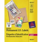 """Avery® ID Label - Permanent Adhesive - 1 1/2"""" Width x 1 1/2"""" Length - Square - Laser - Bright White - 600 / Pack"""