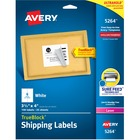 "Avery® Mailing Label - Permanent Adhesive - 3 21/64"" Width x 4"" Length - Rectangle - Laser - White - 150 / Pack"